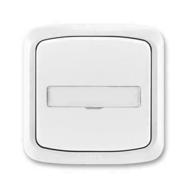 ABB 3558A-80920 B IPxx Ovládač zapínací kompl., s prosvětl. popis. polem, řaz. 1/0, 1/0So, IP44