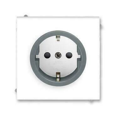 ABB 5518M-A03459 44 Jiné systémy zásuvek Zásuvka jednonásobná s ochrannými kontakty (podle DIN), s c