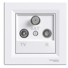 SCHN EPH3500121 Zásuvka TV-R-SAT, koncová, bílá RP 0,11kč/ks