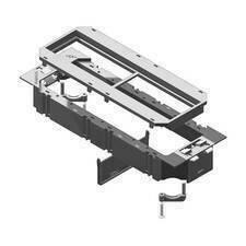 HLS HL TSBU4.45.45 Vanička přístrojová, pro NEO, box, přístroje 45x45mm, RAL 9011, PVC