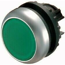 EATON 216596 M22-D-G Ovládací hlavice tlačítka, zapuštěné tlačítko, bez aretace, kroužek titan, zele