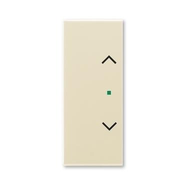 """ABB 6220E-A02002 21 free@home Kryt 2násobný levý/pravý, symbol """"žaluzie"""""""