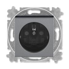 ABB 5519H-A02357 69 Zásuvka jednonásobná s ochranným kolíkem, s clonkami Levit