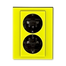 ABB 5522H-C03457 64 Jiné systémy zásuvek Zásuvka dvojnásobná s ochrannými kontakty (podle DIN), s cl