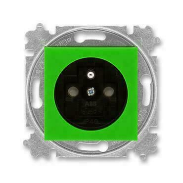 ABB 5519H-A02357 67 Levit Zásuvka jednonásobná s ochranným kolíkem, s clonkami