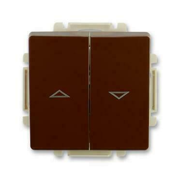ABB 3557G-A89340 H1 Swing Spínač žaluziový jednopólový, řazení 1+1 s blokováním, s krytem