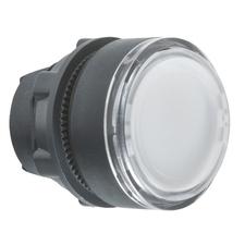 SCHN ZB5AA18 Ovládací hlavice stiskací, lícující s průhledným hmatníkem - bílá
