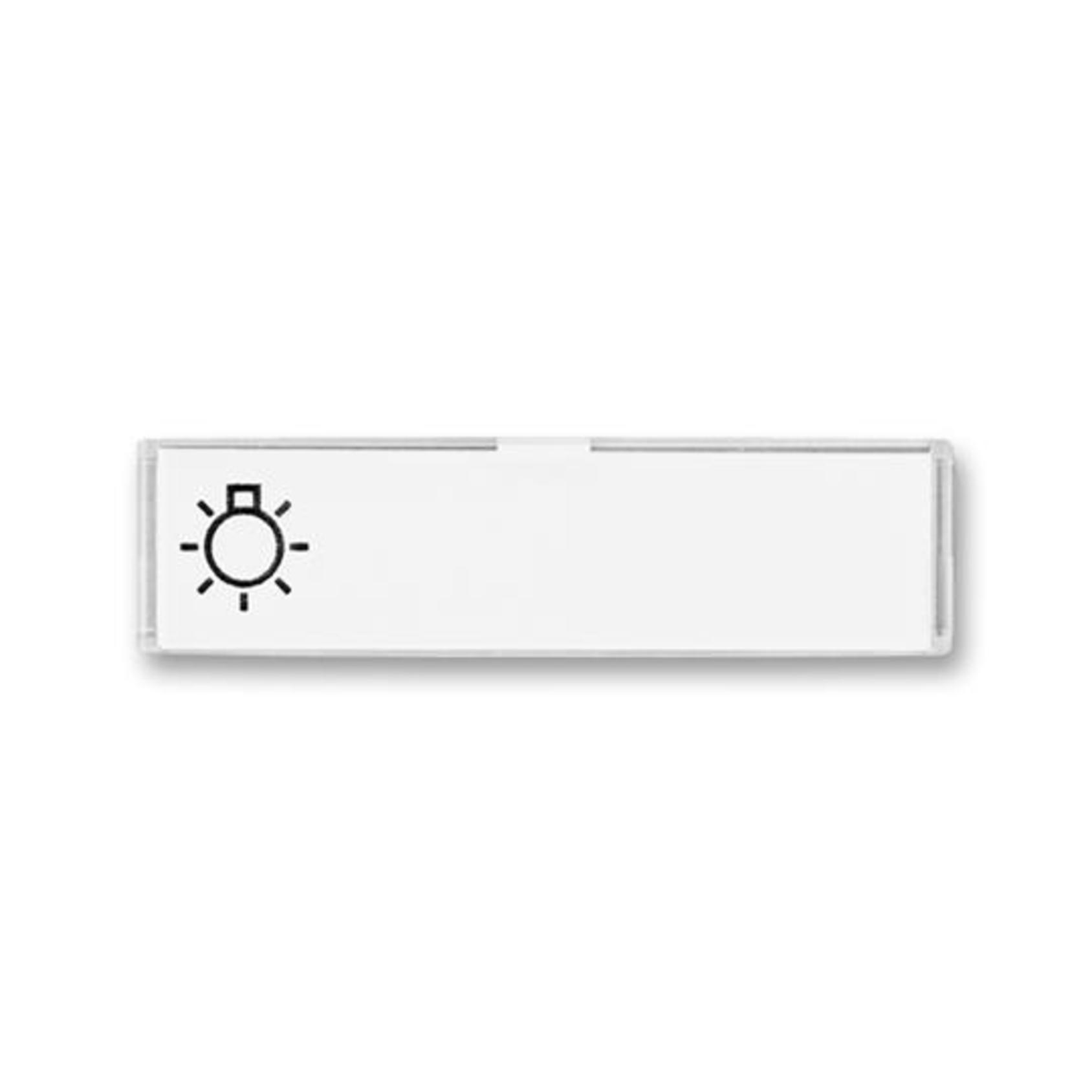 ABB 3558E-A10/2 Time Pole popisové, se symbolem světla
