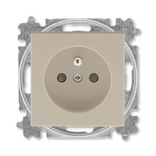 ABB 5519H-A02557 18 Levit Zásuvka jednonásobná 55x55, s ochranným kolíkem, s clonkami