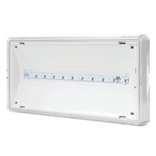 MODUS EXIT S 1W LED 120 lm  BASIC IP65 1h , svítící při výpadku,  bílé, univ. piktogram