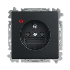 ABB 5599B-A02357885 Future Zásuvka jednonásobná s ochr. kolíkem, s ochranou před přepětím