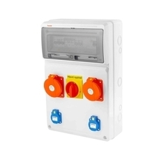 FAM v4402-6kA - ZSFV20101000.1 /3952  Zás.skříň IP44 jištěná s chráničem 40/4 RP 4kč/ks