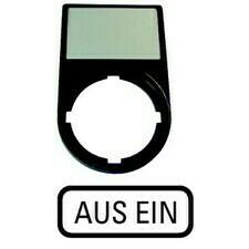 EATON 216490 M22S-ST-D10 Nosiče štítků-komplety, 30x50mm, oblé, černé Aus Ein