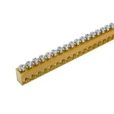 EL 1000116 Svorkovnice N/PE mosazná NSCH 10x15x1000mm, IP00, 111 přip. míst, 25mm2