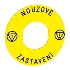 SCHN ZBY9T30 Štítek - NOUZOVÉ ZASTAVENÍ - 60 mm