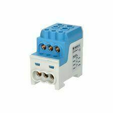EL 1006065 Blok pro rozdělení fází UVB 200 N, 1pól., 200A, 1000V, modrý, na DIN