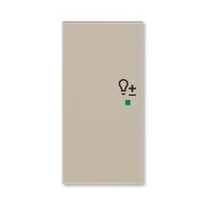 ABB 6220H-A02104 18 free@home Kryt 2násobný levý, symbol stmívání