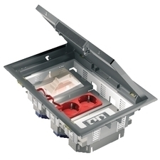 SCHN ISM50536 FLOOR OUTL.BOX, 6 SINGLE 3 DOUBLE UNICA, podlahová krabice