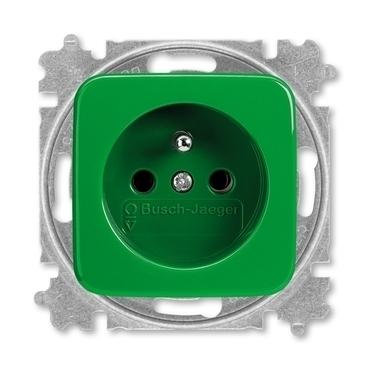 ABB 5519B-A02347 Z Zásuvka jednonásobná chráněná, s bezšroub. svorkami Zdravotnictví