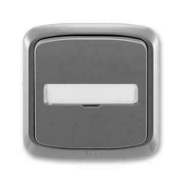 ABB 3558A-80920 S2 IPxx Ovládač zapínací kompl., s prosvětl. popis. polem, řaz. 1/0, 1/0So, IP44