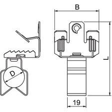 BCVPO 8-12,5 D25 Nosníková svorka