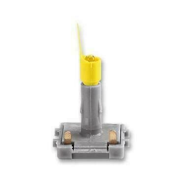 ABB 3916-10444 Přístroje LED orientační 1 mA, bílé světlo (žlutý límec, bílá tečka)