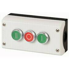EATON 216532 M22-I3-M1 Skříňka se třemi tlačítky I/O/II, 3Z+3V, povrchová montáž