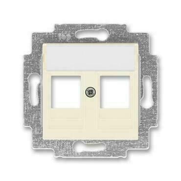 ABB 5014H-A01018 17 Levit Kryt zásuvky komunikační přímé (2x), s kovovým upevňovacím třmenem