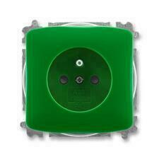 ABB 5519A-A02357 Z Zdravotnictví Zásuvka jednonásobná, chráněná, s clonkami, s bezšroub. svorkami