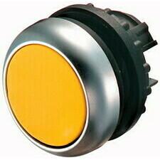 EATON 216598 M22-D-Y Ovládací hlavice tlačítka, zapuštěné tlačítko, bez aretace, kroužek titan, žlut