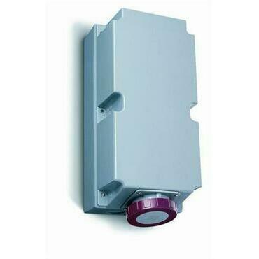 ABB 2CMA168530R1000 Průmyslové vidlice a z. Zásuvka nástěnná pro smyčkování, 4p., 125 A, IP67, 6 h