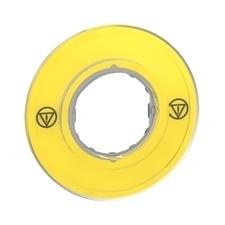 SCHN ZBY9121 3D kruhový štítek pro nouzové zastavení, bez popisu