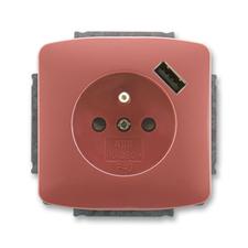 ABB 5569A-A02357 R2 Tango Zásuvka 1násobná s kolíkem, s clonkami, s USB nabíjením