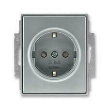 ABB 5518E-A03459 36 Jiné systémy zásuvek Zásuvka jednonásobná s ochr. kontakty (podle DIN), s clonka