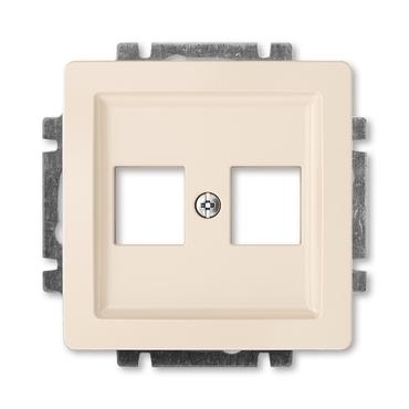 ABB 5014G-A02018 C1 Swing Kryt zásuvky komunikační přímé (2x), s kovovým upevňovacím třmenem