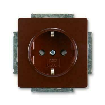 ABB 5518G-A03459 H1 Jiné systémy zásuvek Zásuvka jednonásobná s ochr. kontakty (podle DIN), s clonka