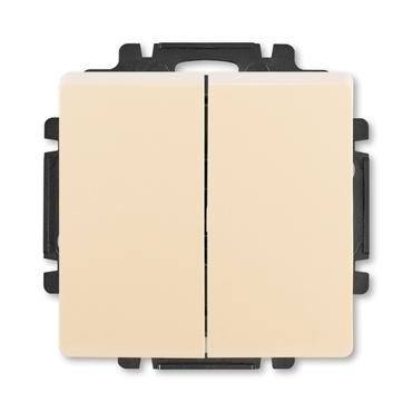 ABB 3557G-A87340 C1 Swing Ovládač zapínací dvojitý, řazení 1/0+1/0, s krytem