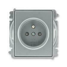 ABB 5519E-A02357 36 Time Zásuvka jednonásobná, chráněná, s clonkami, bezšroubové svorky