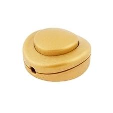 EL 1000484 Vypínač plastový nožní (350/VP/T) - zlatý, 1pol.