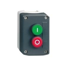 SCHN XALD213E Ovládací skříňka dvoutlačítková, 2 líc., 1Z + 1 V - zelená, 1 Z+ 1 V - rudá RP 0,27kč/