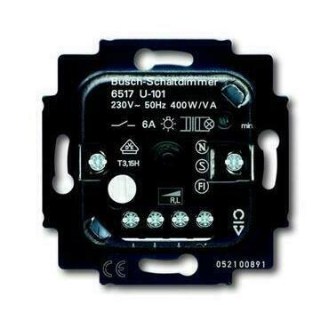 ABB 2CKA006517A0018 Přístroje Přístroj otočného stmívače s tlačítkovým spínačem (6517 U-101-500)