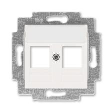 ABB 5014H-A01018 68 Kryt zásuvky komunikační přímé (2x), s kovovým upevňovacím třmenem Levit