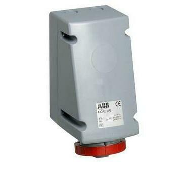 ABB 2CMA168489R1000 Průmyslové vidlice a z. Zásuvka nástěnná pro smyčkování, 4p., 32 A, IP67, 6 h
