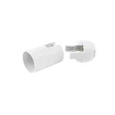 EL 1000260 Objímka plastová E14, typ: 50 (T210+105/ASFV) - bílá, hladká, s čepičkou
