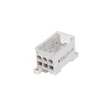 EL 1003951 Blok pro rozdělení fází PVB 160-6, 1pól., AL/CU, 160A, 690V, šedý, na DIN