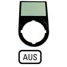 EATON 218299 M22S-ST-D5 Nosiče štítků-komplety, 30x50mm, oblé, černé Aus