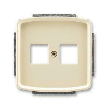ABB 5014A-A02018 C Tango Kryt zásuvky komunikační přímé (2x), s kovovým upevňovacím třmenem