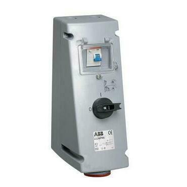 ABB 2CMA167778R1000 Průmyslové vidlice a z. Zásuvka s blokovaným vypínačem a proud. chráničem, 3p.,