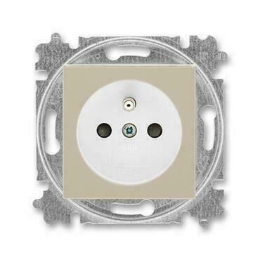 ABB 5519H-A02357 18 Levit Zásuvka jednonásobná s ochranným kolíkem, s clonkami
