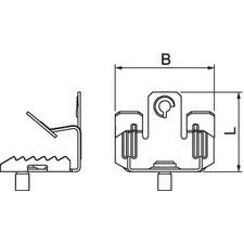 BCUTB 8-12,5 M6 Nosníková svorka